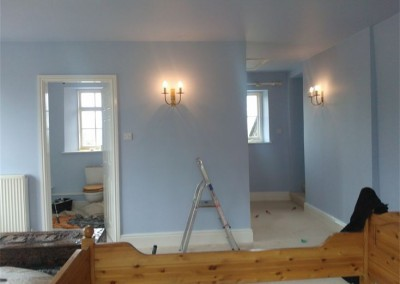 Bedroom Complete Using Dulux Vinyl Matt to ceiling and walls and Farrow and Ball water based gloss